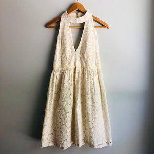 Anna Sui for Anthropologie Eyelet Halter Dress